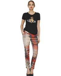 Vivienne Westwood Anglomania Logo Embroidered Cotton Tshirt - Lyst
