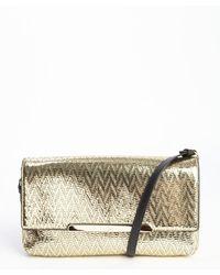 Christian Louboutin Chevron Textured Convertible Clutch Shoulder Bag - Lyst