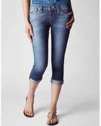True Religion Hand Picked Rolled Womens Capri - Lyst