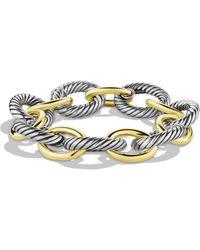 David Yurman - 'oval' Extra-large Link Bracelet With Gold - Lyst