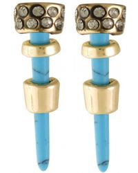 House Of Harlow 1960 Rift Valley Stud Earrings blue - Lyst