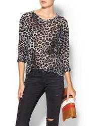 Jet By John Eshaya Leopard Print Sweater - Lyst