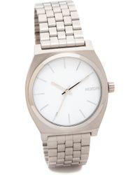Nixon Time Teller Watch - Silver/White - Lyst