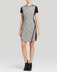 Shoshanna Dress - Isla Short Sleeve Tweed Jacquard - Lyst