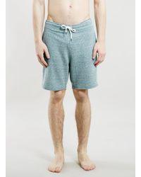 Topman Neppy Teal Short Jersey Shorts - Lyst