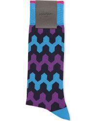 Duchamp Sixties Zig Zag Socks - For Men - Lyst