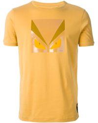 Fendi Bug Print T-Shirt - Lyst