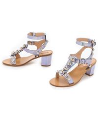 Markus Lupfer - Embellished City Sandals - Hologram Silver - Lyst