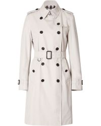 Burberry London Cotton Trench Coat - Lyst