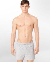 Calvin Klein Woven Boxers 3 Pack - Lyst