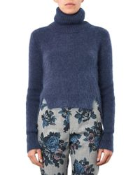 Band of Outsiders - Roll-neck Cropped Sweater - Lyst