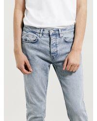 Topman Snow Wash Stretch Skinny Jeans - Lyst