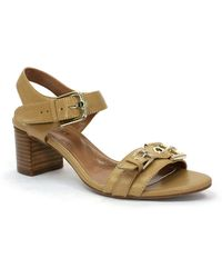 Ellen Tracy Catalina High-Heel Leather Sandals - Lyst