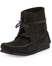 Isabel Marant Flavie Calf Hair Moccasin Boot - Lyst