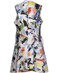 Jil Sander Printed Cotton-Poplin Dress - Lyst