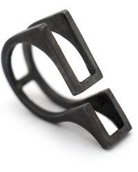 Margherita Oxidized Sterling Silver Skeletal Ring - Lyst