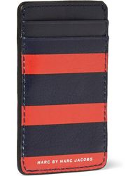 Marc By Marc Jacobs Striped Leather Cardholder - Lyst