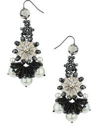 Topshop Premium Haematite Bead Earrings - Lyst