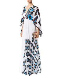 Issa - Mouna Pleated Kaftan Gown - Lyst
