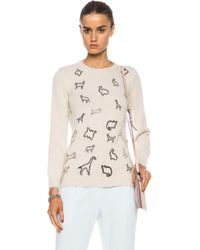 Mary Katrantzou Angora Slim Sweater - Lyst