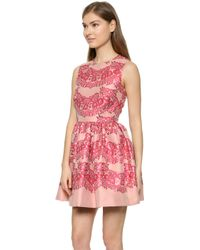 RED Valentino Lace Brocade Dress - Ribes - Lyst