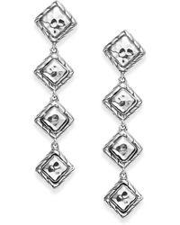 John Hardy Palu Sterling Silver Four Square Drop Earrings - Lyst