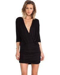 Dolan Cross Front Dress - Lyst
