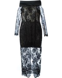 Alessandra Rich Sheer Lace Dress - Lyst