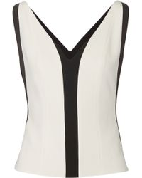 Narciso Rodriguez Paneled Bonded Stretch-Crepe Top - Lyst