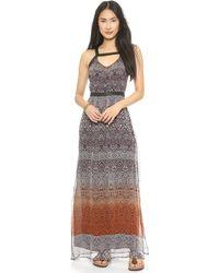 Charlie Jade Print Maxi Dress  Brown - Lyst