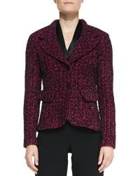 St. John Collection 2button Blazer with Pockets - Lyst