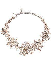 Oscar de la Renta Crystal Firework Necklace - Lyst