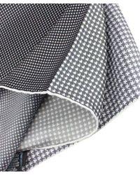 Lanvin Hound'S-Tooth Cloth Silk Scarf - Lyst