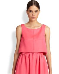 Honor Open-back Cropped Top - Lyst