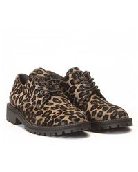 Leather Crown Jeffrey-Campbell-Snick-Plateausandalen-Aus-Leder-In-Gelb animal - Lyst