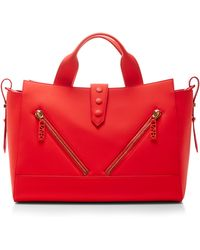 Kenzo Zip-front Leather Shoulder Bag - Lyst