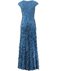Theia Blue Petal Gown - Lyst