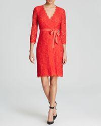 Diane von Furstenberg Wrap Dress - Julianna Lace - Lyst