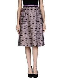 Pinko Knee Length Skirt purple - Lyst