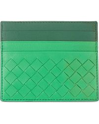 Bottega Veneta Intrecciato Nappa-Leather Card Holder - For Women green - Lyst