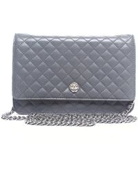 Chanel Pre-owned Lambskin Quilted Woc Wallet On Chain - Lyst