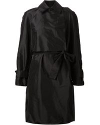 Lanvin Belted Trench Coat black - Lyst