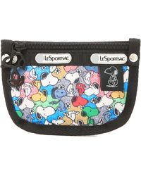 LeSportsac - Peanuts X Key Coin Pouch - Snoopy Mini - Lyst
