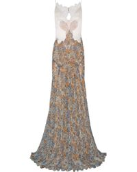 Stella McCartney Green Carpet Challenge Organza Guipure Lace and Printed Silk-georgette Gown - Lyst