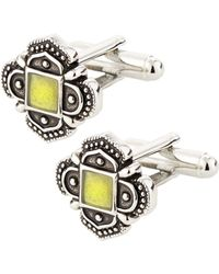 Link Up Green Antique Cuff Links - Lyst