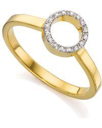 Monica Vinader - Diva Mini Circle Open Diamond Ring - Lyst