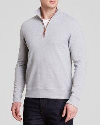 Michael Kors Knit Piqué Quarter Zip Sweater - Lyst