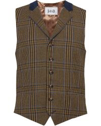 Jules B - Houndstooth Check Waistcoat - Lyst