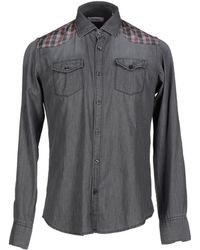 1° Genito - Denim Shirt - Lyst