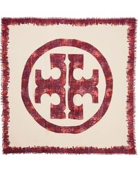 Tory Burch Painted Print Fringe Scarf - Lyst